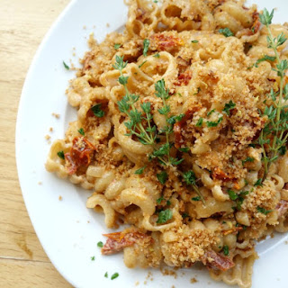 Whole Wheat Pasta with Dried Tomatoes and Lemon Breadcrumbs.