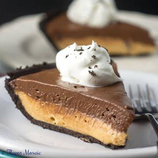 Chocolate Peanut Butter No Bake Pie.