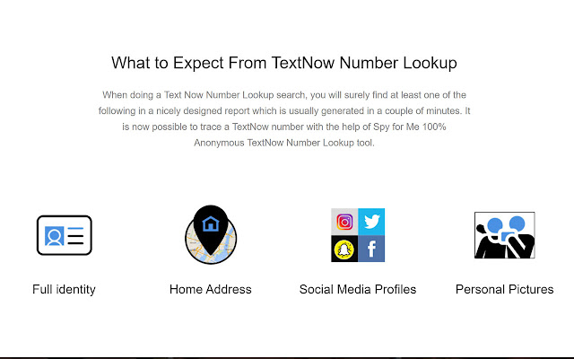 Text Now Number Lookup App