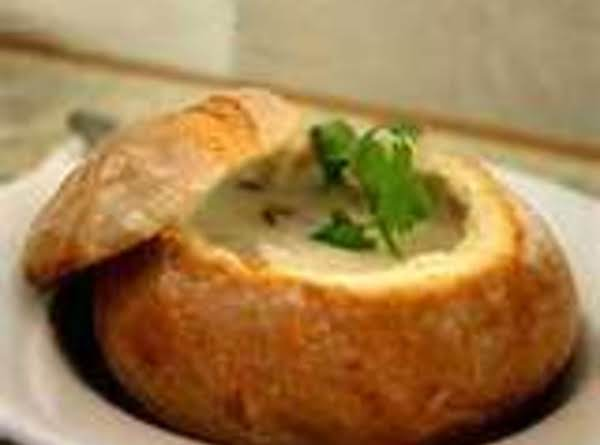 Philly Cheese Steak Soup In A Bread Boule