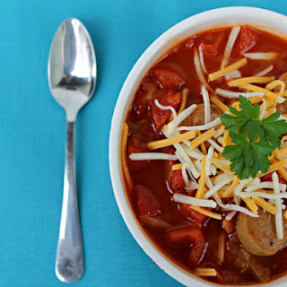 Spicy Chicken Sausage and Cabbage Soup Recipe - Sanity in Suburbia