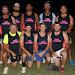 A-grade Men's: Pink Panthers - back, David Cruickshank, Caleb Binge, Brenton Cochrane, Troy Ward, Blake Hilderson, front, Kevin Baker, Justin Knight, Jay Hall and Ty Baker.
