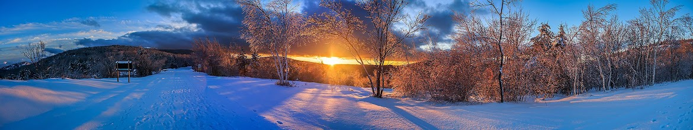Photo: Sunset over Park Loop Road. NPS/Kristi Rugg