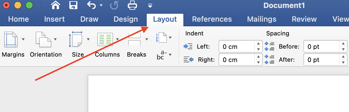How To Format Your Book In Microsoft Word - layout tab