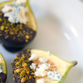 Dark Chocolate-Dipped Figs with Gorgonzola.