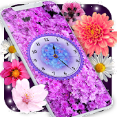 Flowers Analog Clock Live Wallpaper