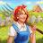 Jane's Farm: Farming Game - Build your Village logo