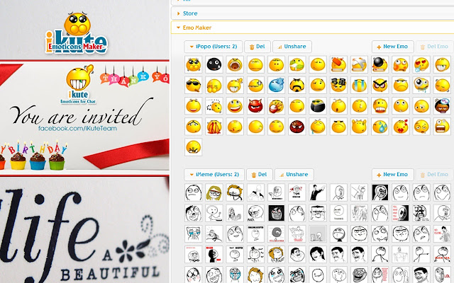 iKute Emoticons for Facebook Chat