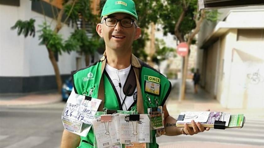 Ginés Pérez, el vendedor de la ONCE que ha repartido 350.000 euros en Almería.
