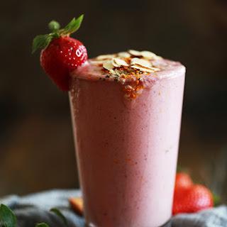 Strawberry Almond Smoothie.