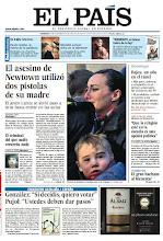 Photo: El asesino de Newtown utilizó dos pistolas de su madre, entrevista al ministro de Educación, Rajoy, un año en el túnel y un especial Cataluña - España, en la portada del domingo 16 de diciembre.