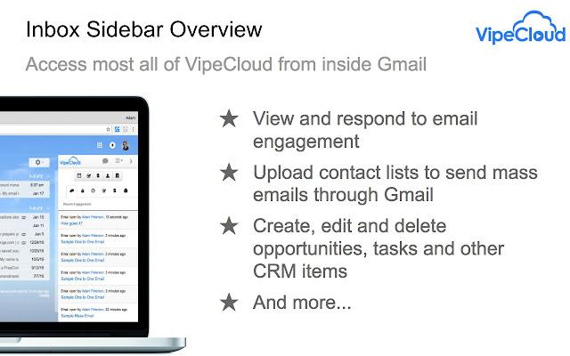 VipeCloud Inbox Sidebar