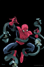 Photo: AMAZING SPIDER-MAN #699 COVER (Preview Version). 2012. Ink(ed by Joe Rivera) on Marvel board, 11 × 17.25″.