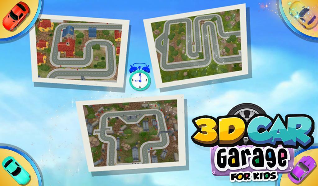 3d car garage for kids screenshot
