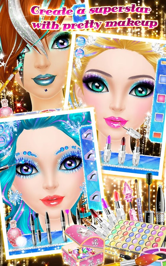 Screenshots of Make-Up Me: Superstar for iPhone