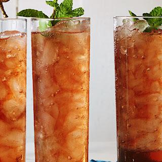 Peach Sweet Tea With Bourbon.