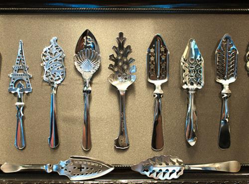 There is also the French style of spoon used in the absinthe drink making...