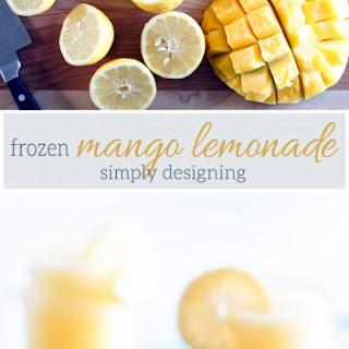 Frozen Mango Lemonade.