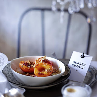 Caramelized Apricots with Amaretti Butter