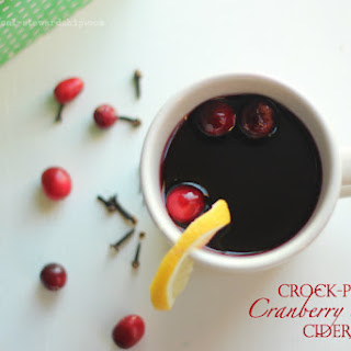 Crock-pot Cranberry Spiced Cider.