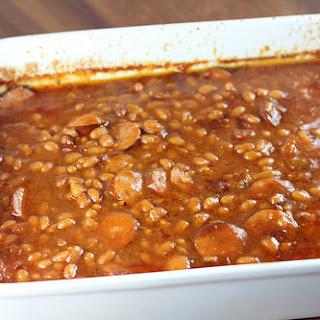 Smoked Sausage Baked Beans.