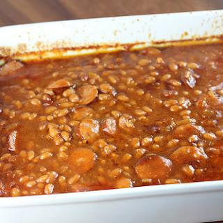 Smoked Sausage Baked Beans.