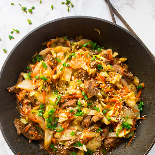 Ginger Cabbage and Beef Stir Fry.