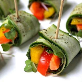 Raw Zucchini Wraps.