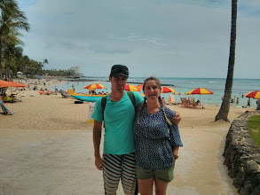 Photo: On our second day in Hawaii, we realized we'd yet to take a photo.  Here's Waikiki beach.