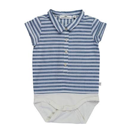 Fridolf - Randig babybody i skjortmaterial