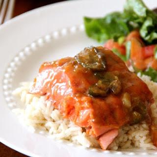 Apricot Jalapeño Glazed Cedar Plank Salmon
