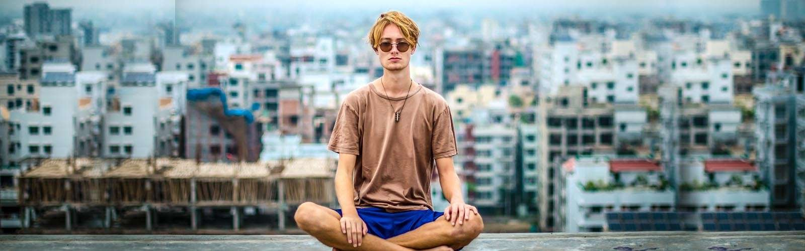 An english man who has discovered the benefits of meditation