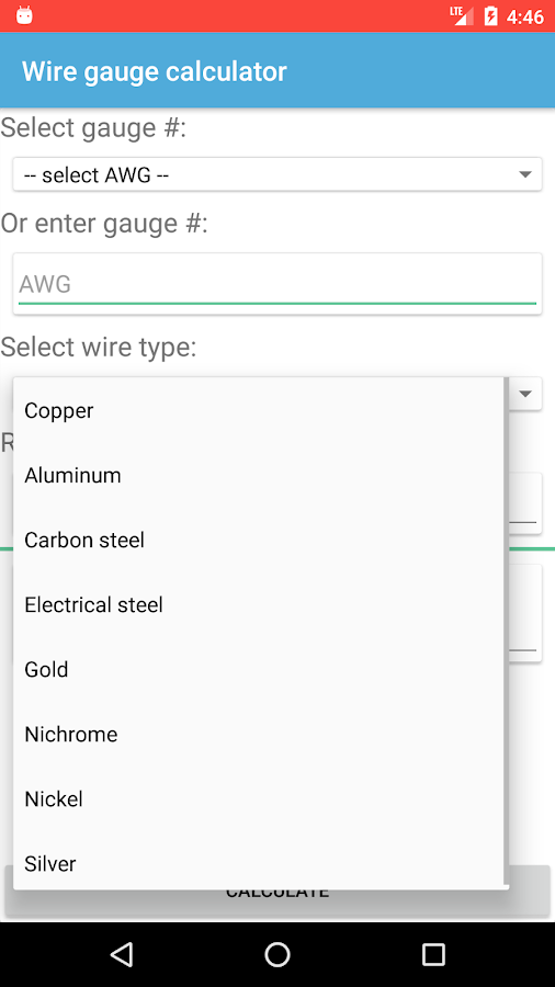 Wire gauge calculator - Android Apps on Google Play