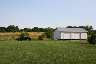Photo: New storage garage that went up on neighbor's property across the lake.