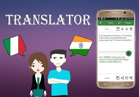 Italian To Bengali Translator - náhled