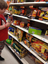 Photo: But, Mattie asked to stopped in the NERF section...he loves anything NERF. I was surprised to see the section quite disorganized though.