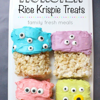 Easy Halloween Monster Rice Krispie Treats