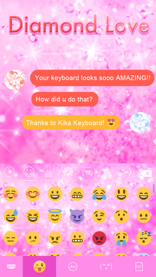 Diamond Love 💎 Keyboard Theme- screenshot