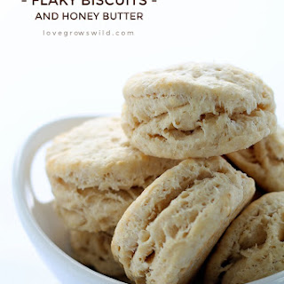 Flaky Biscuits with Honey Butter