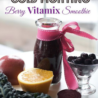 Vitamix Cold Fighting Smoothie for Sick Kids with Blueberries, Orange and Kale.