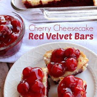 Cherry Cheesecake Red Velvet Bars