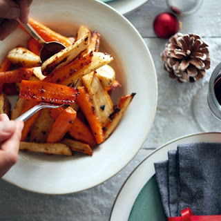 Honey-glazed Roast Carrots & Parsnips
