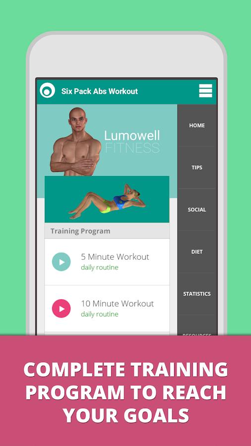Six Pack Abs Workout Lumowell Screenshot
