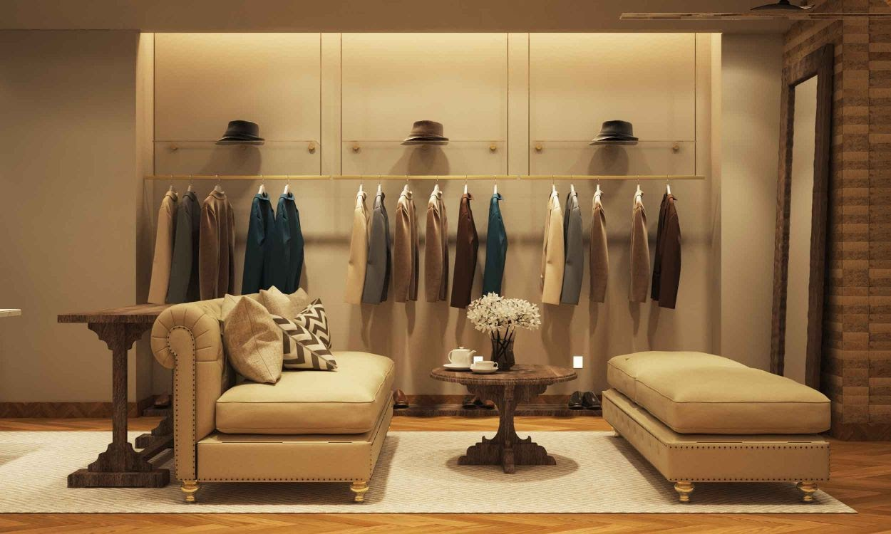 Thiết kế shop thời trang nam theo phong cách châu Âu