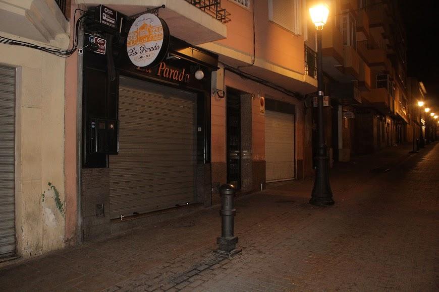 El pub La Parada en calle Eduardo Pérez.