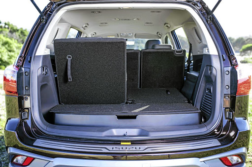 The third row of seats fold neatly into the floor. Picture: ISUZU MOTORS SA