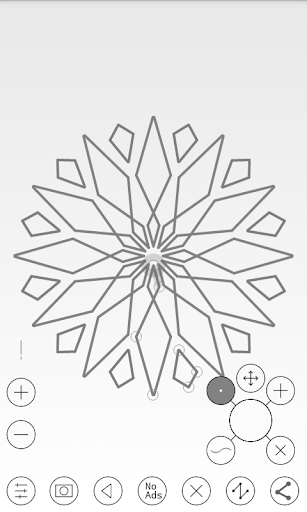 Line Art - Circular Vector Drawing App 1.1 screenshots 1