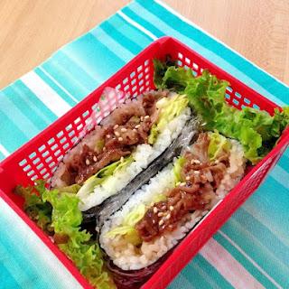 Easy Bulgogi Onigirazu (Rice Sandwich)