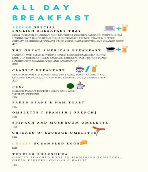 Cafe Azzure menu 7