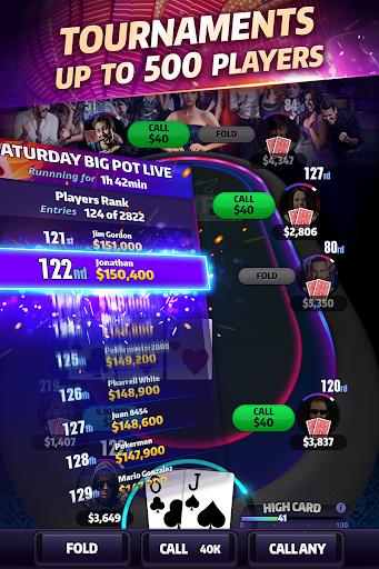 Mega Hit Poker: Texas Holdem massive tournament 1.31.0 screenshots 5